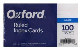 20 Bulk Oxford Ruled Index Cards, 3 Inch X 5 Inch, White, 100 Per Pack