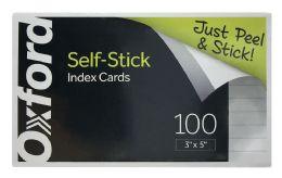 6 Bulk Oxford SelF-Stick Index Cards, 3 Inch X 5 Inch, Ruled, White, 100 Per Pack