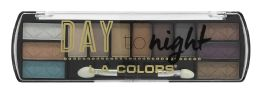 6 Bulk L.a. Colors Day To Night 12 Color Eyeshadow Palette, Sunset Ces425