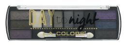 6 Bulk L.a. Colors Day To Night 12 Color Eyeshadow Palette, Ces426 Nightfall