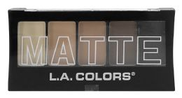 12 Bulk L.a. Colors 5 Color Matte Eyeshadow Cem472 Brown Tweed