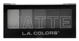 12 Bulk L.a. Colors 5 Color Matte Eyeshadow Cem475 Black Lace