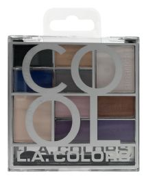 6 Bulk L.a. Colors Eyeshadow Palette Ces137 - Cool