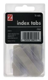 12 Bulk Z International Index Tabs, Clear, 16 Tabs
