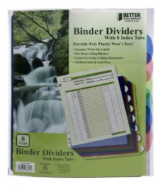 24 Bulk Better Office Products Binder Dividers With 8 Index Tabs