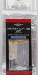 12 Bulk Shower Curtain Liner Clear