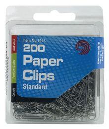 24 Bulk Ava 200 Paper Clips Standard