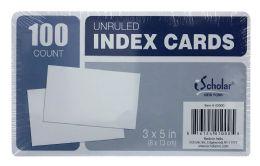 24 Bulk Ischolar Unruled Index Cards Count 100