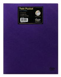 72 Bulk Ischolar Twin Pocket Poly Portfolio