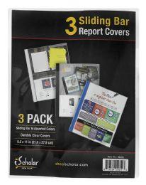12 Bulk Ischolar 3 Sliding Bar Report Covers Pack 3