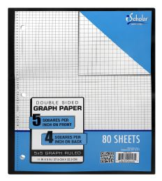 12 Bulk Ischolar Double Sided Graph Paper