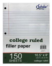 12 Bulk Ischolar Filler Paper Sheets 150 College Ruled