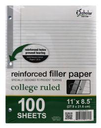 12 Bulk Ischolar Reinforced Filler Paper College Ruled