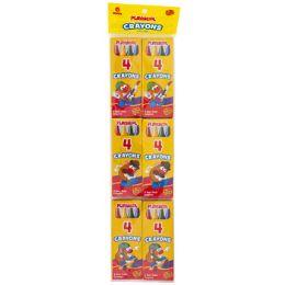 48 Bulk Playskool Crayon 6x4ct Packs Boxed Peggable