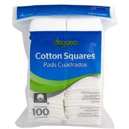 48 Bulk Cotton Squares 100ct 100% Cotton