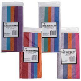 72 Bulk Tissue 10sheet 5 Step Shortfold Asst Color Combos Party Label