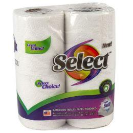 24 Bulk Bathroom Tissue 4pk 150ct 2 Ply Select Poly Wrap