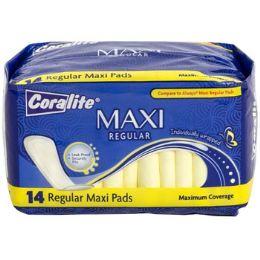 24 Bulk Maxi Pads Regular 14ct Coralite