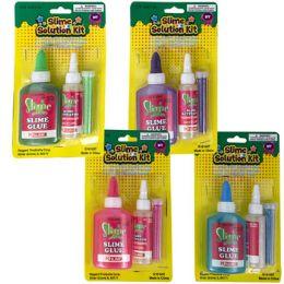 24 Bulk Slime Kit Diy 3pc 4ast Colors
