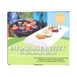 12 Bulk Inflatable Salad Bar Buffet 51x22x5in Color Boxed