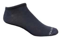 120 Bulk Yacht & Smith Mens 97% Cotton Light Weight No Show Ankle Socks Solid Navy