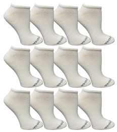 120 Bulk Yacht & Smith Womens 97% Cotton Low Cut No Show Loafer Socks Size 9-11 Solid White