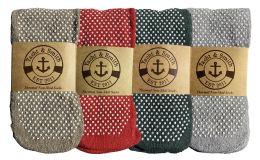 48 Bulk Yacht & Smith Non Slip Gripper Bottom Womens Winter Thermal Slipper Tube Socks Size 9-11