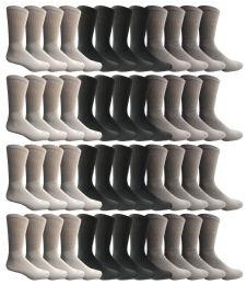 120 Bulk Yacht & Smith Women's Sports Crew Socks, Size 9-11, Assorted Bulk Pack