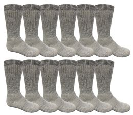 48 Bulk Yacht & Smith Kids Merino Wool Thermal Winter Camping Boot Socks