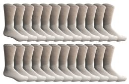 240 Bulk Yacht & Smith Women's Cotton Tube Socks, Referee Style, Size 9-15 Solid White Bulk Pack