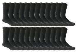 240 Bulk Yacht & Smith Women's Cotton Tube Socks, Referee Style, Size 9-15 Solid Black 22inch