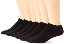 120 Bulk Yacht & Smith Women's NO-Show Cotton Ankle Socks Size 9-11 Black Bulk Pack