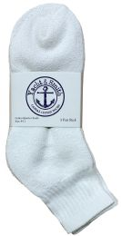 120 Bulk Yacht & Smith Women's Cotton Ankle Socks White Size 9-11 Bulk Pack