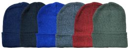 96 Bulk Yacht & Smith Kids Winter Beanie Hat Assorted Colors Bulk Pack Warm Acrylic Cap
