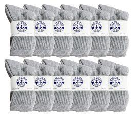 1200 Bulk Yacht & Smith Kids Cotton Crew Socks Gray Size 6-8