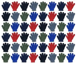 72 Bulk Yacht & Smith Kids Warm Winter Colorful Magic Stretch Gloves Ages 2-8 Bulk Pack