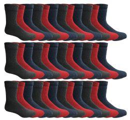 60 Bulk Yacht & Smith Womens Wholesale Winter Thermal Crew Socks Size 9-11