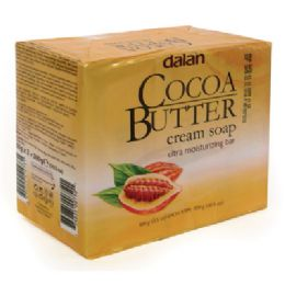 24 Bulk Dalan Bar Soap 3.17 Ounce 3 Pack Cocoa Butter