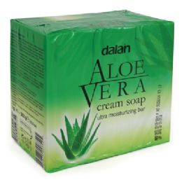 24 Bulk Dalan Bar Soap 3.17 Ounce 3 Pack Aloe Vera