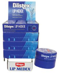 48 Bulk Blistex Lip Medex .25 Oz Counter Display