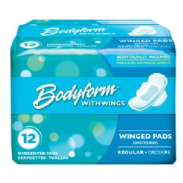 36 Bulk Bodyform Wing Maxi Pad 12 Count Regular