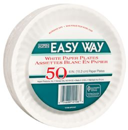 24 Bulk Easy Way 6 Inch 50 Ct Paper Plate Microwave Safe