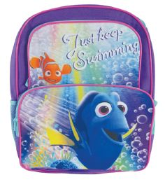 "12 Bulk Disney Backpack 16"""" Dory Cargo StylE- Just Keep Swimming"