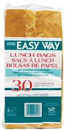 40 Bulk Easy Way Brown Lunch Bag 30ct Self Standing Flat Bottom 10 1/2 X 5 1/4 X 3 1/4