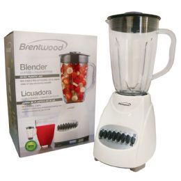 4 Bulk Brentwood 12 Speed+pulse Blender 50 Ounce White Cetl Listed