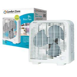 6 Bulk Comfort Zone Fan 9 Inch 2 Speed Box Fan Etl Approved