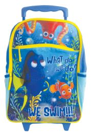 "6 Bulk Disney Rolling Backpack 16""""dory We Swim"