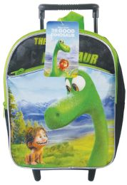 "6 Bulk Disney Rolling Backpack 12"" Good Dino"