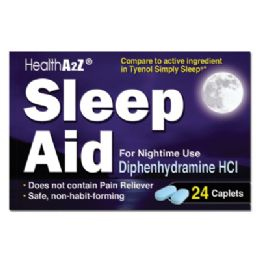 24 Bulk Sleep Aid 24 Coated Caplets Diphenhydramine Hcl 25 Mg Compare To Simply Sleep