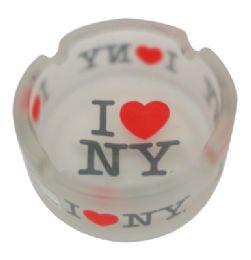 120 Bulk Ashtray 3 Inch I Love Ny Frosted Glass